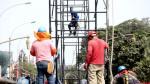 Cierran vías auxiliares de la avenida Brasil para instalar tribunas del desfile por Fiestas Patrias - Noticias de