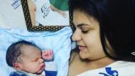 Nació bebé de jugador del Chapecoense que murió en accidente aéreo. (Instagram:@grazie.thiaguinho94)