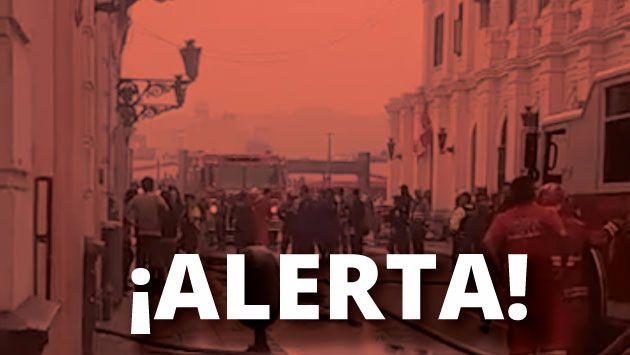Se registra un incendio en el Cercado de Lima