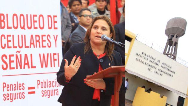 La ministra de Justicia Marisol Pérez Tello anunció el bloqueo de señales de celulares y redes wifi en los penales a nivel nacional. (Ministerio de Justicia)