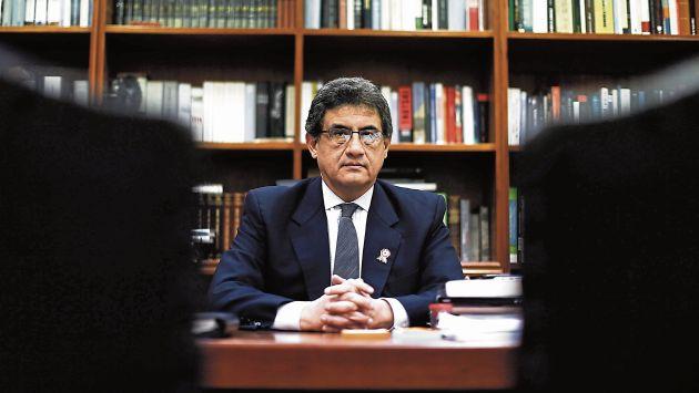 Juan Sheput hizo una balance del primer año de gobierno. (Renzo Salazar)