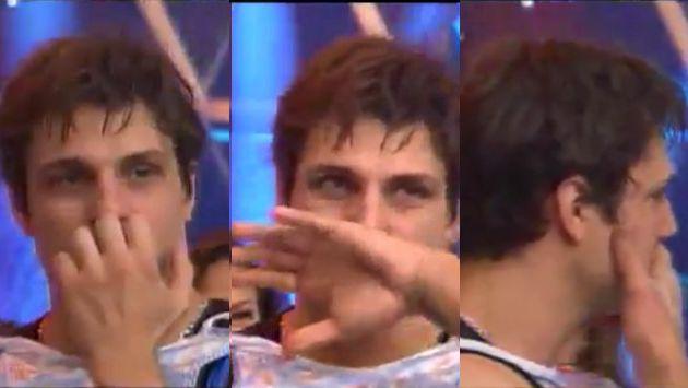 Nicola Porcella no pudo con un juego en 'Esto es guerra' y se retiró. (América TV)