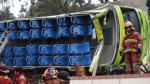 Vehículo que cayó del Cerro San Cristóbal solo podía transportar 35 pasajeros. (Luis Centurión)