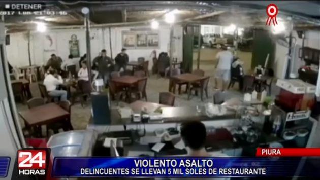 Piura: Delincuentes asaltan restaurante y se retiran caminando con S/ 5 mil soles (Panamericana)
