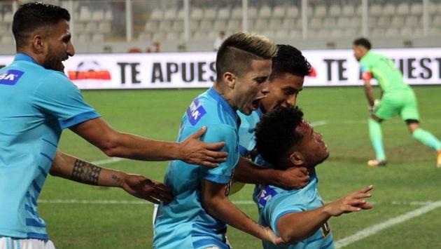 El atacante panameño anotó frente a Universitario su cuarto gol con la camiseta de Sporting Cristal. (Facebook SC)