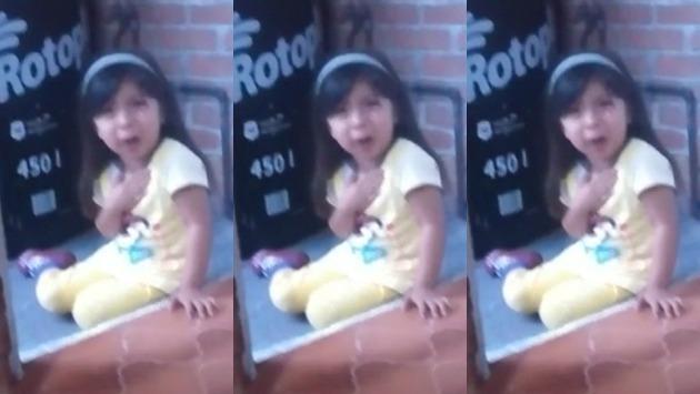 Video de niña mexicana se convirtió en viral en redes sociales.