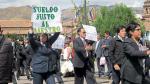 Docentes en huelga advierten radicalización de protestas en el sur - Noticias de meza palomino