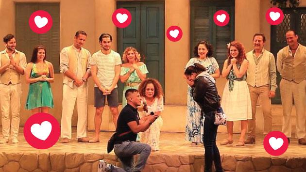 Facebook: Joven le pide matrimonio a su enamorada en complicidad con elenco de la obra 'Mamma Mia'. (Los productores)