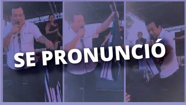 Tony Rosado se excusó así tras lanzar camiseta de Alianza Lima en concierto. (Facebook)