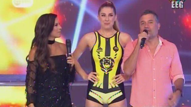 """""""Soy muy picona, así que vamos a ganar"""", dijo la modelo argentina Nair Bravo. (América TV)"""