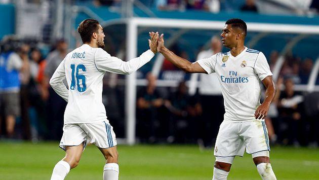 El cuadro de la 'Clasa Blanca' en su anterior encuentro amistoso cayó por 3-2 con el Barcelona. (Getty images)