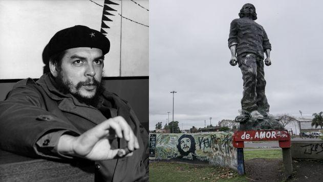 Monumento al Che Guevara en Rosario. (AFP)