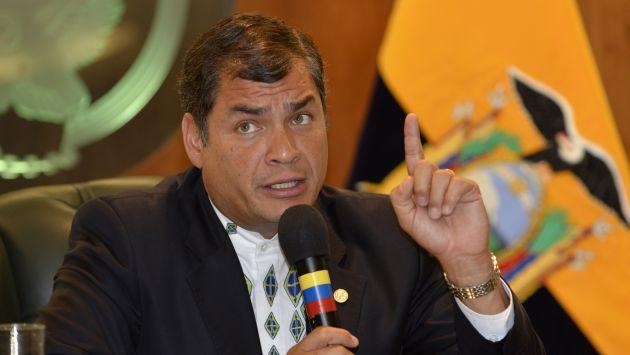 Rafael Correa, ex presidente de Ecuador (La Nación).