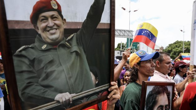 Chavistas llegaron para la instalación de la Asamblea Constituyente en Venezuela. (Efe)