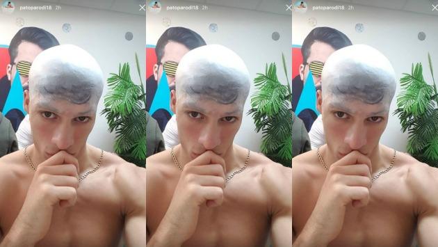 Así se preparó el conocido 'Pato Parodi' para secuencia de talentos en EEG. (Instagram/@patoparodi18)