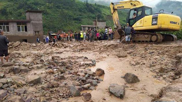 China: 24 personas murieron tras deslizamientos de tierra en Sichuan y Gansu (Xinhua)