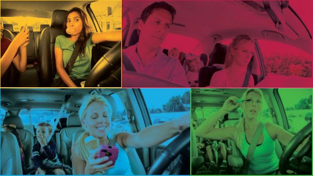 Manejar mientras se escribe un mensaje por celular es muy peligroso, pues puede causar accidentes de tránsito.
