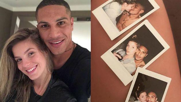 En la instantánea se aprecia un negativo de tres fotos de la pareja. (Instagram: @lealthaisa)