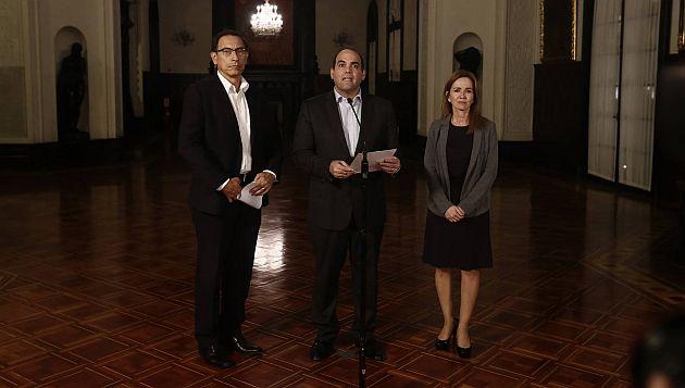Fernando Zavala aseguró que reuniones con dirigentes de profesores continuará mañana. (Renzo Salazar)