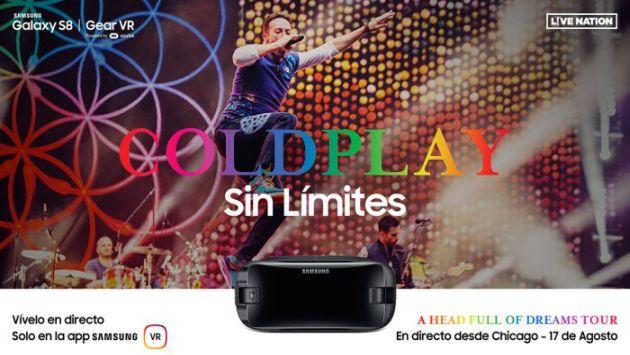 Samsung transmitirá un concierto de Coldplay y sólo podrás verlo en realidad virtual (Samsung)