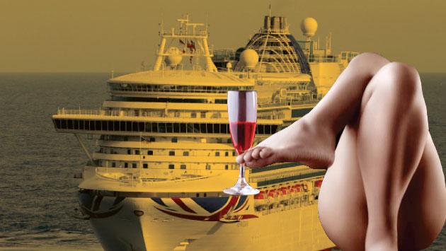 Este barco para 2,100 personas también acepta parejas tentativas, curiosas o swingers experimentados. (Getty)