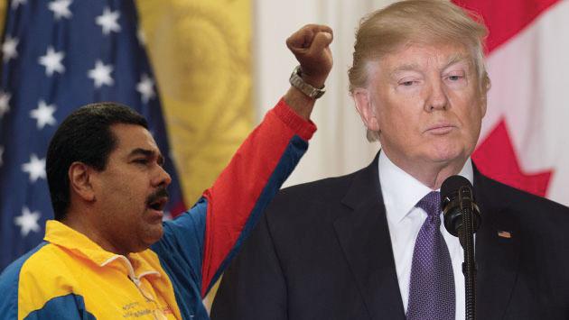 Donald Trump no descarta una respuesta militar ante la situación de Venezuela.