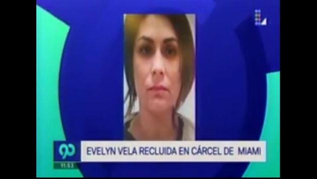 La primera imagen de la detención de Evelyn Vela. (Latina)