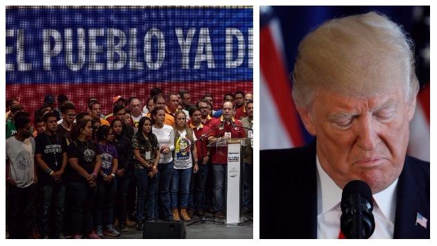 MUD rechaza posible intervención militar tras declaraciones de Donald Trump (Efe/Reuters).