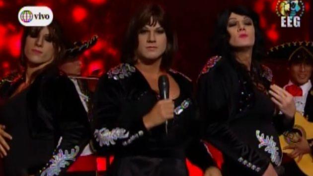 Patricio Parodi, Yaco Eskenazi y Krayg Peña interpretaron a 'Pandora'. (América TV)
