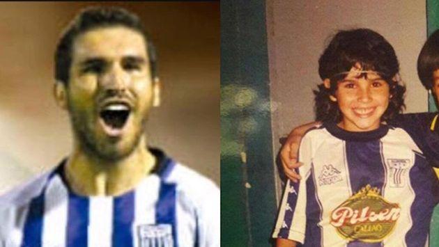 Con solo seis años, el actual delantero 'íntimo' ya lucía la camiseta blanquiazul. (@oscarfpacheco)