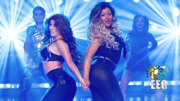 Yahaira Plasencia y Michelle Soifer deslumbraron como Shakira y Beyoncé. (EEG)