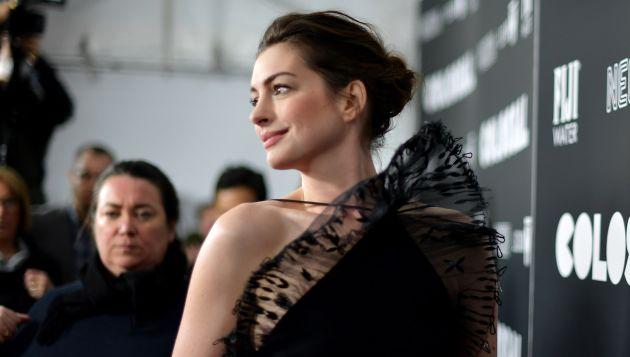 Anne Hathaway se convirtió en madre en marzo. (AFP)