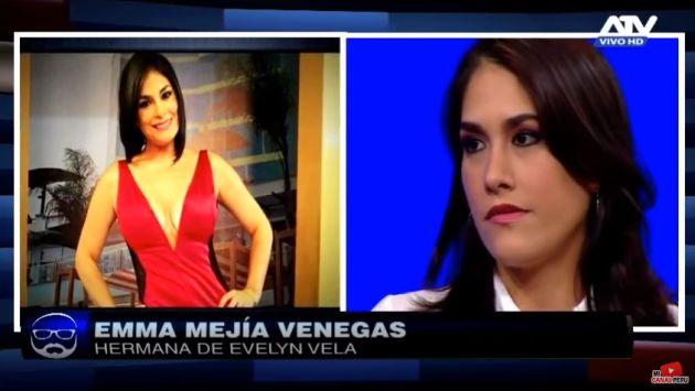 Media hermana de Evelyn Vela pide a periodistas que respeten a los hijos de la 'Reina del Sur'. (Captura de video)