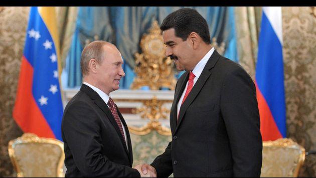 Vladimir Putin, presidente de Rusia y Nicolás Maduro, mandatario venezolano (Semanario Argentino de Miami).
