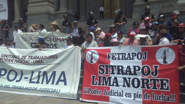 Poder Judicial: Paro de 48 horas de los trabajadores se declaró ilegal. (USI)