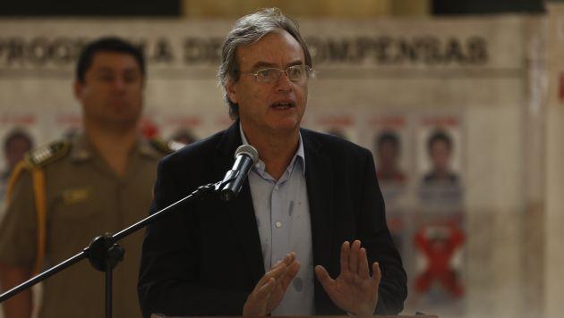 """""""Lo que sucedió ayer fue un intento de romper el orden violentamente"""", expresó Basombrío. (Renzo Salazar/Perú21)"""