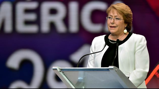 Michelle Bachelet, presidenta de Chile (Vistazo).