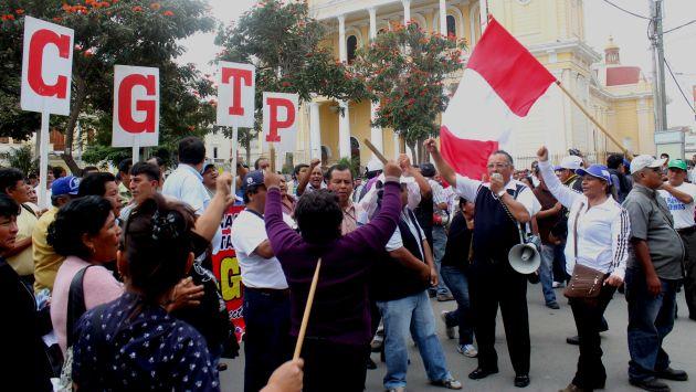 Representantes de la CGTP hablarían con el presidente Kuczynski sobre proyecto de la 'Ley Pulpín 2.0' (Fabiola Valle)
