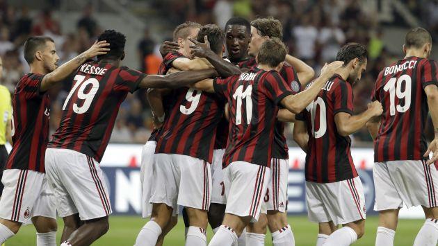 Andre Silva, Riccardo Montolivo, Fabio Borini y Luca Antonelli anotaron las conquistas del duelo. (AP)