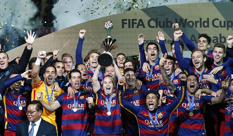 Barcelona ganó 3-0 a River Plate y se coronó campeón del Mundial de Clubes