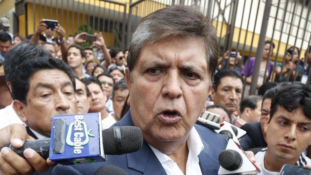 Alan García decidió retirarse de la dirigencia del Apra, según Jorge del Castillo. (Atoq Ramón)