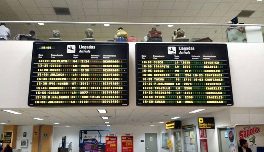 Aeropuerto Jorge Chávez: Varios vuelos fueron cancelados por accidente de avión de la FAP