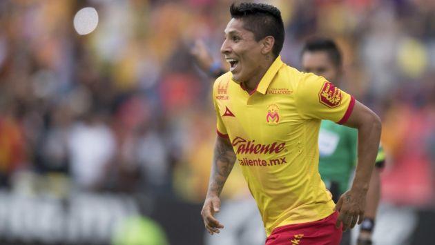 Raúl Ruidíaz le dio el triunfo al Morelia por 3-2 ante el Jaguares Chiapas. (USI)