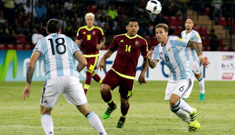 Argentina igualó 2-2 ante Venezuela y rescató un punto de visita en las Eliminatorias [Fotos y video]