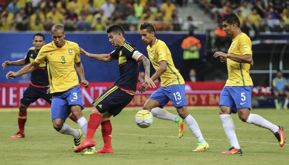 Brasil venció 2-1 a Colombia y se metió entre los líderes de las Eliminatorias Rusia 2018 [Fotos y video]