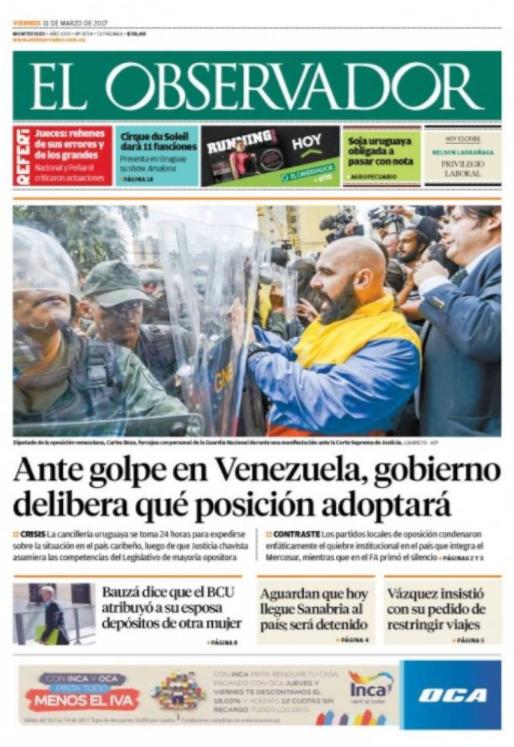 El autogolpe de Nicolás Maduro en Venezuela en las portadas del mundo [Fotos]